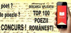 Aplicaţia POEZII. Top 100 de poezii româneşti